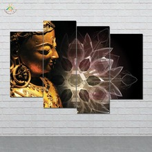 дешево!  Лотос Будда Wall Art HD Отпечатки На Холсте Живопись Модульная Картина И Плакат Холст Картины