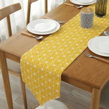 CFen As Yellow Color Quality Table Runner Dining Place Mats For Sale 1pc