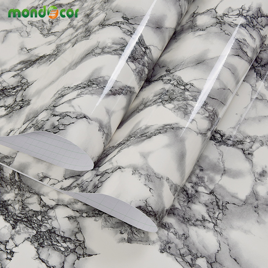 New Arrival Self Adhesive Wallpaper For Table Furniture Renovation Thick Waterproof Imitation Marble Pattern Sticker Home Decor