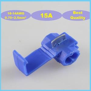 Image 1 - 25 шт. 802P3 Scotch Lock Quick Splice 0,75 2,5 мм2 18 14 AWG 15A автоматический проводной Соединитель Бесплатная доставка