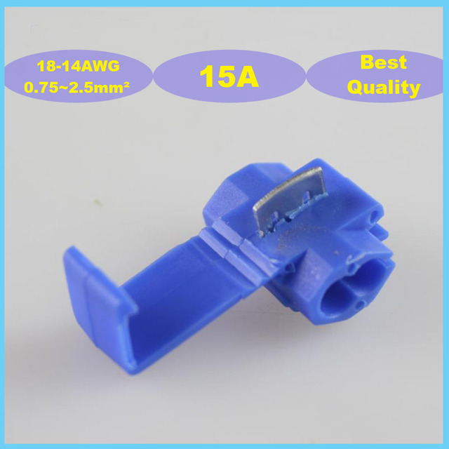25pcs 802P3 Scotch Lock Quick Splice 0.75 2.5mm2 18 14 AWG 15A Auto Wire Connector Free shipping