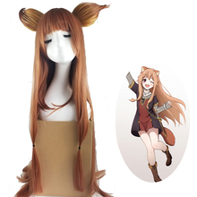 Tate no Yuusha Nariagari Raphtalia Cosplay Costume Wig Headwear Straight Brown The Rising of the Shield Hero Hair