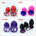 28 * 68mm 4 Color For Choose Silicone Anal Sex Toys For Women & Men Erotic Sexy Anus Butt Plugs Crystal Jewelry With Cloth Bag