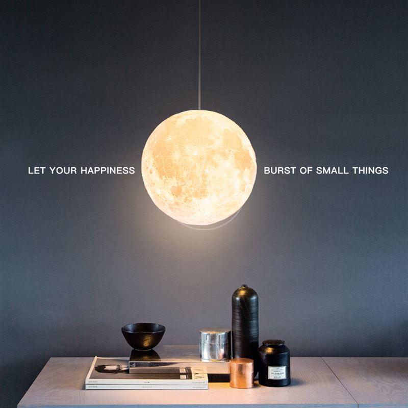3D Imprimer Pendentif Lumières Nouveauté Creative Lune Ambiance Nuit Lumière Lampe Restaurant E27 Bar Suspendus Éclairage