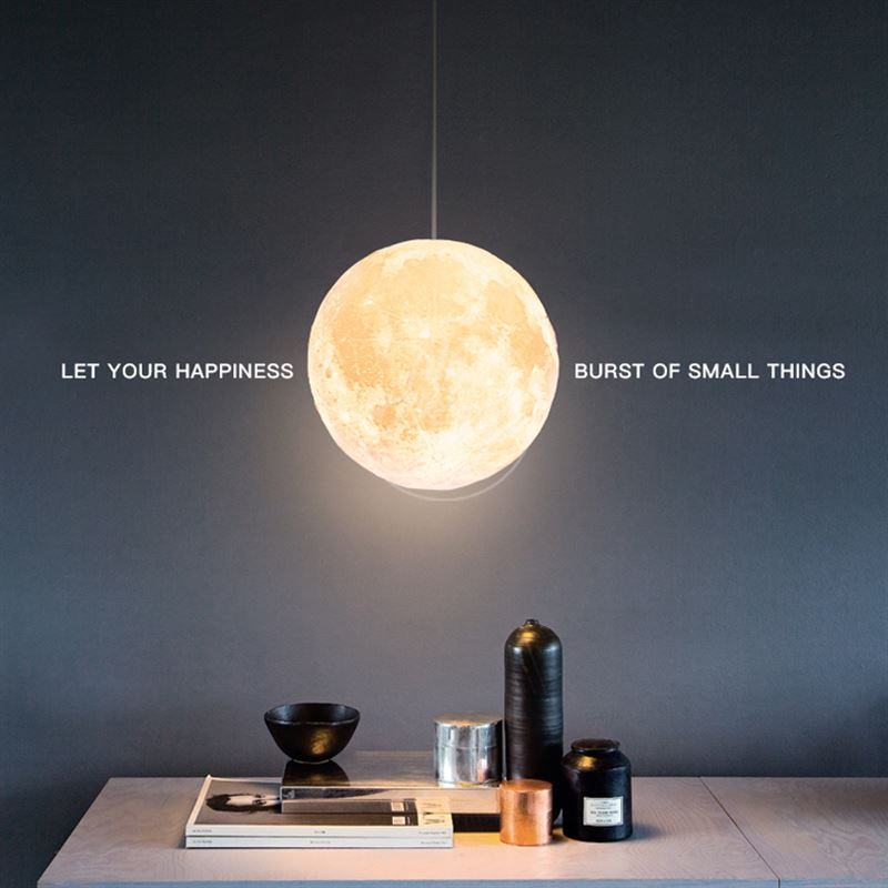 3D Print Pendant Lights Novelty Creative Moon Atmosphere Night Light Lamp Restaurant E27 Bar Hanging Lighting iwhd nordic vintage pendant lights fixtures retro industrial lamp edison loft style hanglamp lamparas vintage
