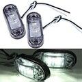 2 шт. Piranha LED Боковой Габаритный Мигалка Лампа Для Автомобиля Truck Trailers 12/24 В Белый Горячий Продавать