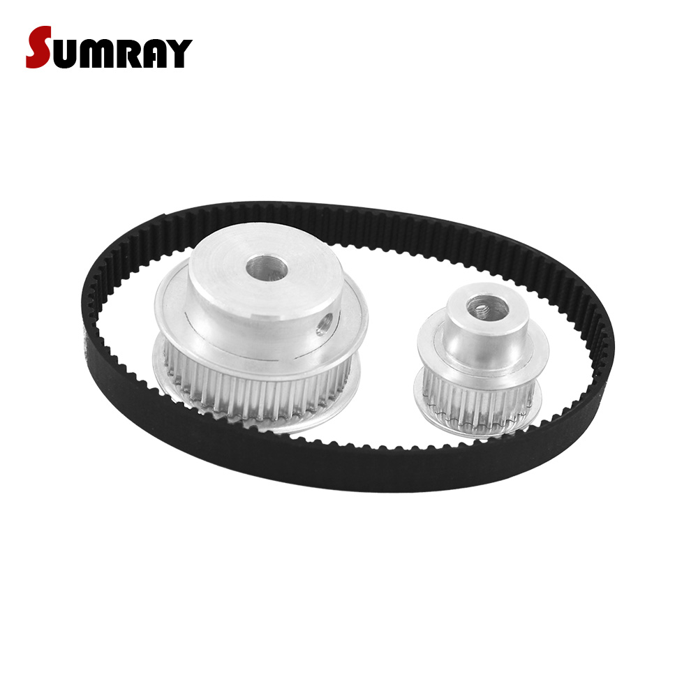 SUMRAY HTD3M Timing Pulley Belt Kit Reduction 1:2 3M 20T 40T Toothed Pulley Wheel 11mm Belt Width HTD3M-291 Synchronous Belt все цены