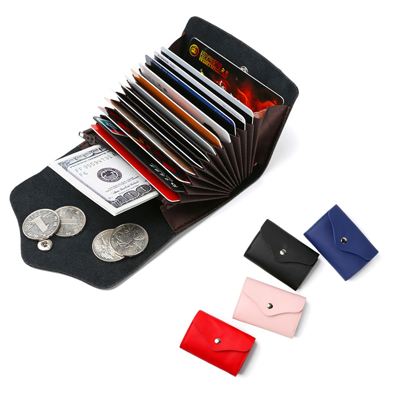 2018 nouveau cuir unisexe affaires portefeuille porte-cartes carte de crédit bancaire Case ID titulaires femmes titulaire de la carte porte carte