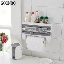 GOONBQ 1pc dozownik papieru kuchennego plastikowy sos Organizer na buteleczki folia aluminiowa Rack olejowy chłonny papier ręcznik Holer półka organizator