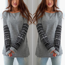 2016 New Fashionable Women's Fshion Round Neck Long Sleeve Pullover Jumper Loose Knitwear Tops