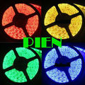 RGB 5050 smd fita tape led strip 5m waterproof tiras luz de cortinas 300 leds ruban 12V warm white blue yellow Free Shipping 5 m
