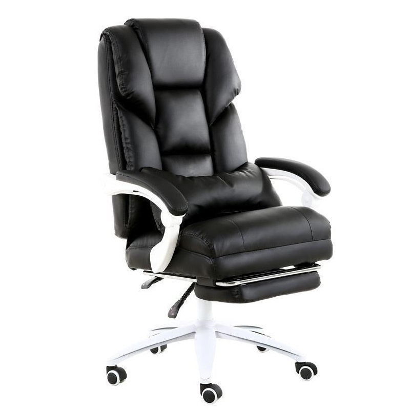 Computer boss leather office back seat swivel chair study home modern minimalist the boss chair is real leather the home can be massaged leather big class chair seat computer chair