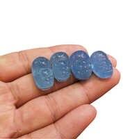 6 8g Doğal Mavi Aquamarine Heykel Pi Xiu Şekil Reiki Kuvars mineral Enerji Kristal Oyma