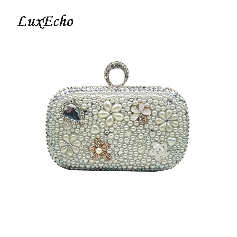 New Ivory pearl Evening bags Diamonds Bags Fashion Women Wedding/Party purse Handmade Day Clutches HandbagsNew Ivory pearl Evening bags Diamonds Bags Fashion Women Wedding/Party purse Handmade Day Clutches Handbags