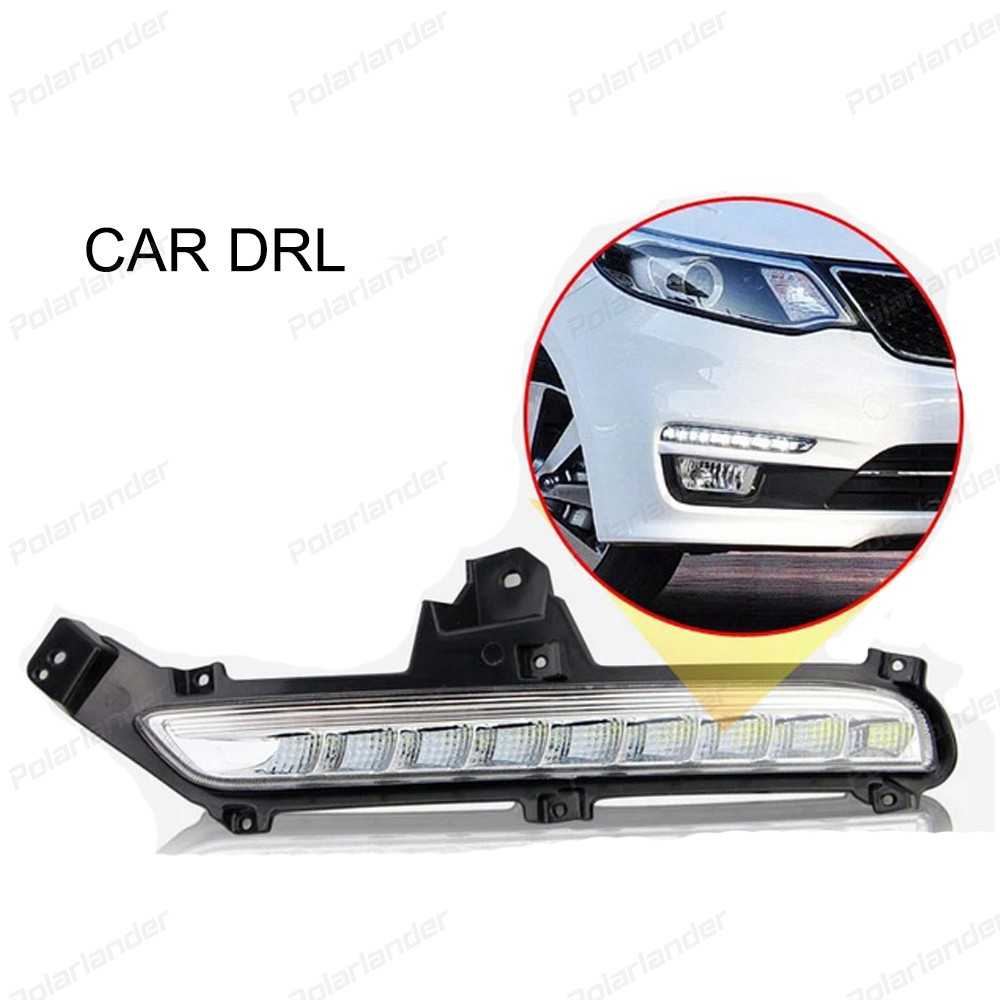 Car styling daytime running lights For K/ia K/2 R/IO 2014-2015 auto accessory hot selling 2 pcs car accessory daytime running lights car styling for k ia k 2 r io 2011 2013