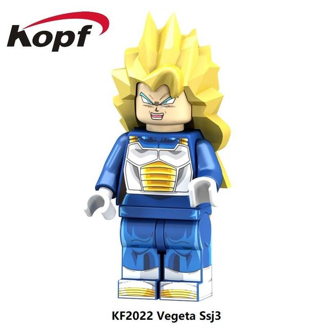 US $0 75 |Single Sale Super Heroes Dragon Ball Z Figures Vegeta SSJ3  Android 17 Future Trunks Building Blocks Children Gift Toys KF2022-in  Blocks from
