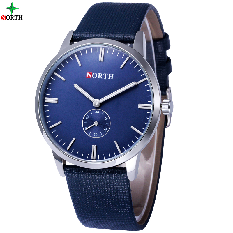 все цены на Men Watch Fashion Montre Homme Waches Mens Watches Top Brand Luxury Relogio Masculino Blue Casual Quartz Watch Men XFCS NORTH