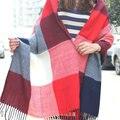 2016 regalo de Navidad Top Unisex manta manta a cuadros bufanda De Acrílico bufanda de Mujer de Marca Tamaño Grande Bufandas Pashmina Chal femal