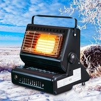 Aluminum Alloy Portable Outdoor Cooker Stove Camping Tent Portable Gas Heater Stove Tent Accessories Roller for Outdoor