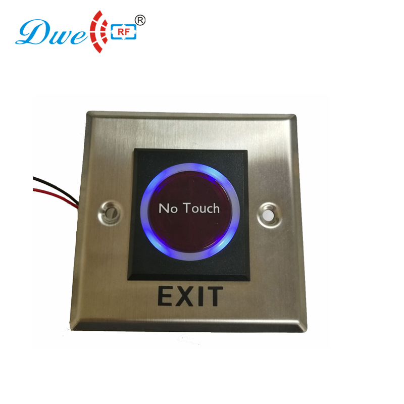 цена на DWE CC RF access control switch stainless steel infrared sensor door exit button with 12V
