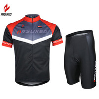 2015 Arsuxeo Mens Cycling Bike Bicycle Short Sleeves Jersey Shirts Wear Suits Uniforms Top C04