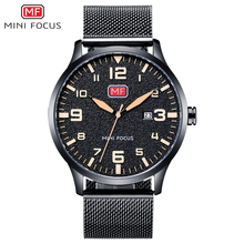 MINI FOCUS relojes de acero inoxidable para Hombre, resistente al agua, de cuarzo, Masculino