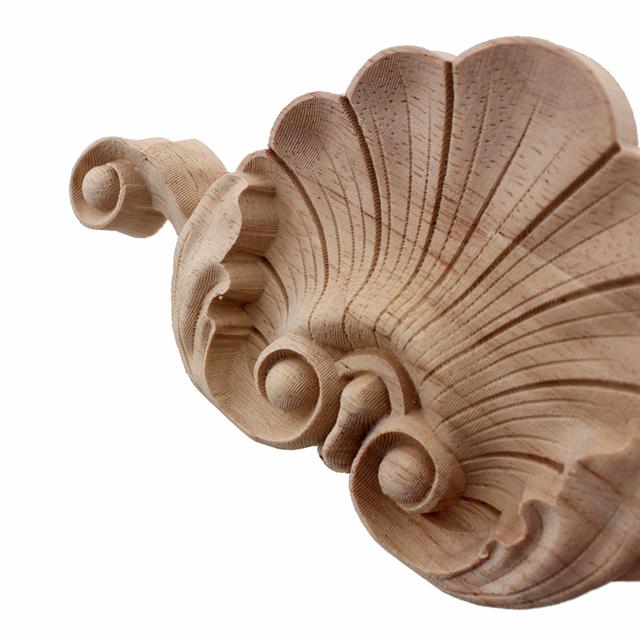 Retro Wooden Floral Carved Applique