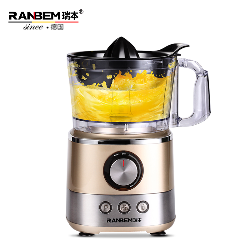 RANBEM Multifunctional Full-automatic Electric Juicer Home/Commercial Fruit Juicer Machine Grinder Mixer With Germany Motor glantop 2l smoothie blender fruit juice mixer juicer high performance pro commercial glthsg2029