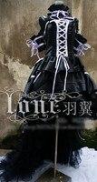 Anime Chobits Chii Cosplay Costume Black Purple Luxury Party Dress Halloween Uniform Free Shipping