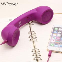 MVPower Anti-radiation Wired Telephone Headsets Portable Headphone Earphones with Mic for All Kinds Telephone Cell Phones Tablet