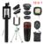 12en1 kits teléfono lente de la cámara kit 12x de zoom teleobjetivo lentes lentes de ojo de pez de gran angular macro selfie remoto luz del flash del trípode
