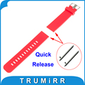 18mm Silicone Rubber Watchband Quick Release for Withings Activite / Steel / Pop Smart Watch Band Resin Strap Bracelet 6 Colors