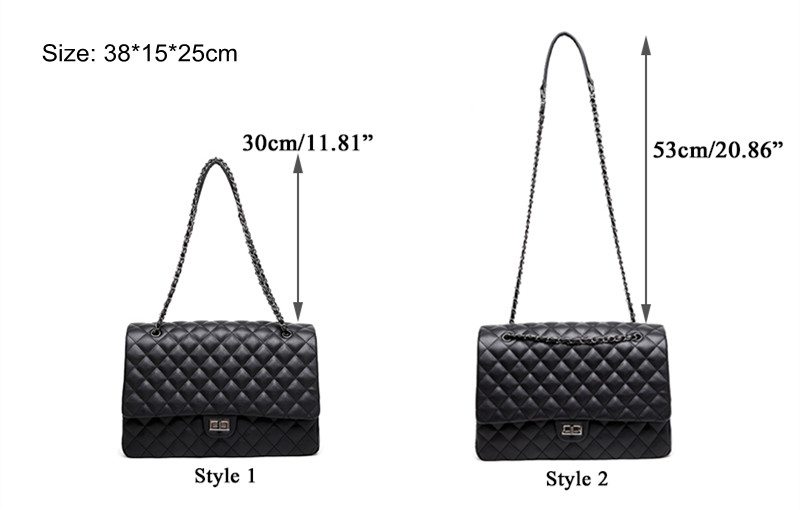 Winmax Large Capacity Bag Women Office Chain Shoulder Bag Travel Luxury Handbags for Girls Leather Pu Quilted Bag Bolsa Feminina