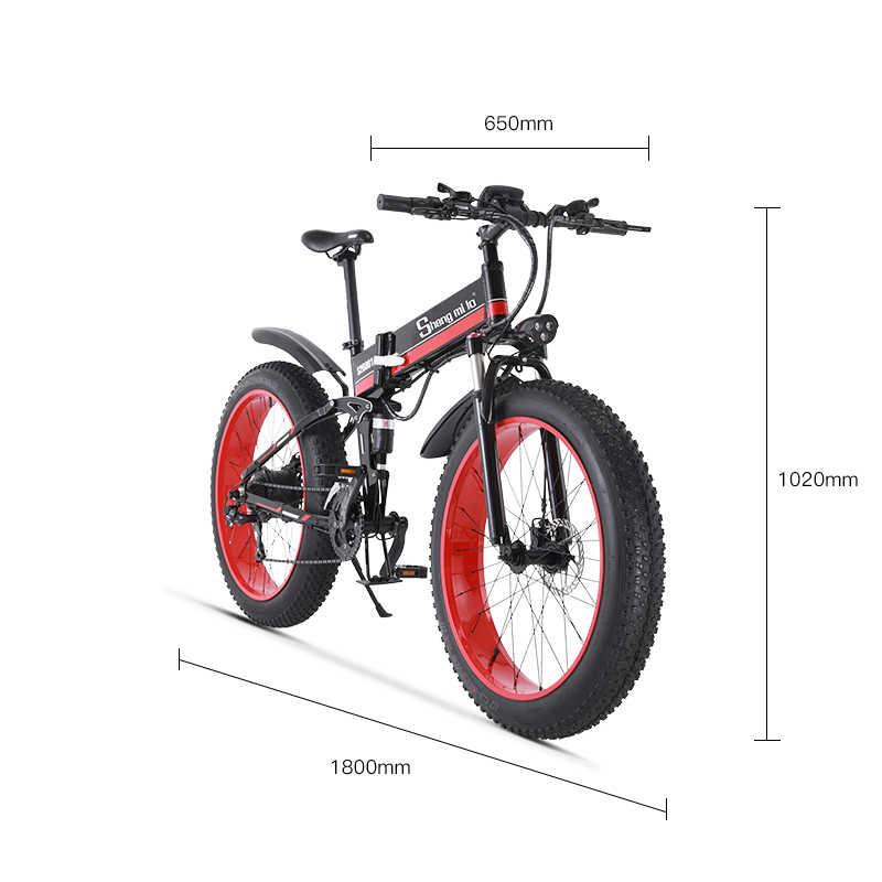 Rower elektryczny 1000W elektryczny rower na plażę 4.0 gruby rower elektryczny rower 48V mężczyzna rower górski śnieg e-bike 26 cali rower