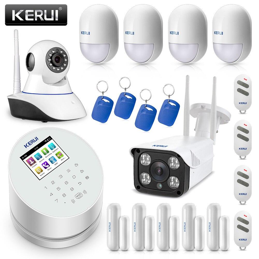 Originale KERUI W2 WIFI GSM PSTN Sistema di Allarme di Sicurezza Casa Intelligente Con IP Macchina Fotografica di WIFI RFID Disalarm Sistema di Allarme Antifurto