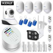 Sistema de alarma de seguridad Original KERUI W2 WIFI GSM PSTN casa inteligente con IP WIFI Cámara RFID sistema de alarma antirrobo