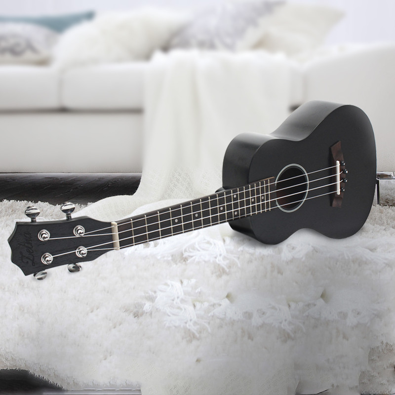 Zebra 23 Inch Black Rosewood Fingerboard Concert Ukulele 4 Stringed Sapele Hawaii Ukelele Guitar