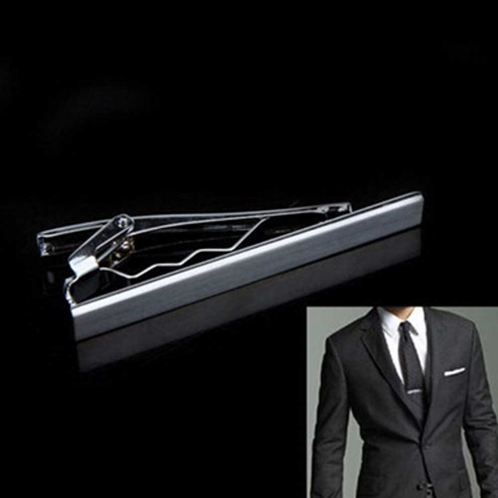 2016 Fashion Metal Silver Simple Necktie Tie Bar Clasp Clip Clamp Pin for men gift