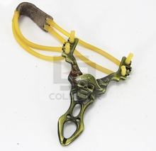 32-023 Powerful Creative Metal Slingshot Shot Brace Catapult With Rubber Band For Outdoor Hunting Shooting Sports Entertainment
