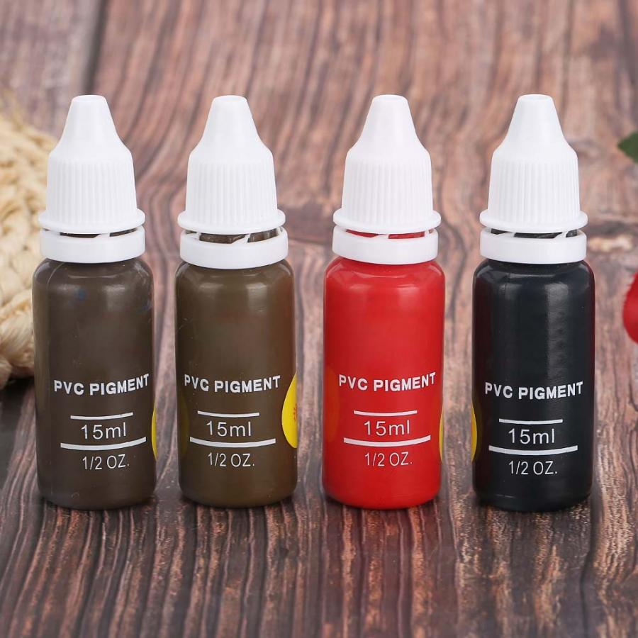 Image 5 - Tattoo Ink 4 Colors Tattoo Pigment Eyebrow Lip Eyeline Microblading Pigment Coloring Cream  Permanent Makeup Pigments-in Tattoo Inks from Beauty & Health