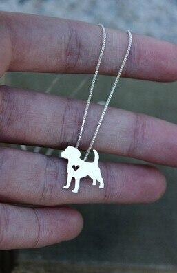 ожерелье с изображением собаки бигля украшение золотым покрытием фотография