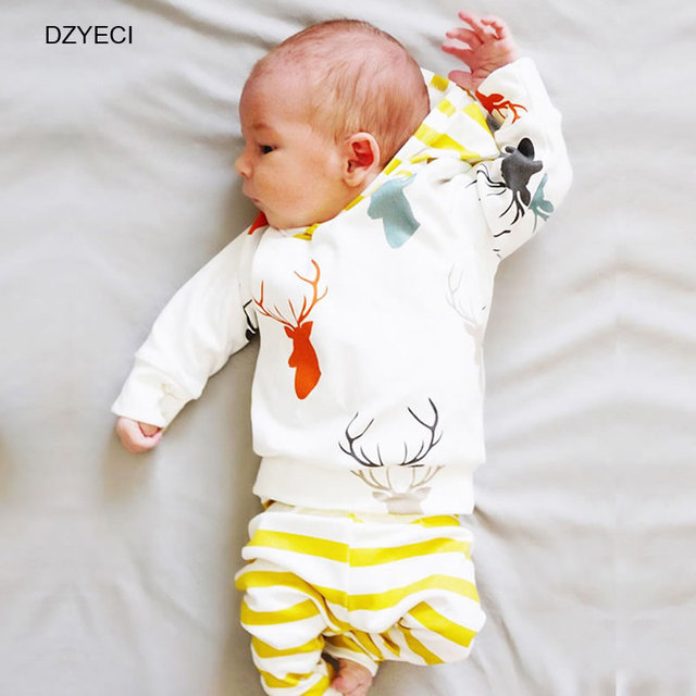 bc2fee0134c9 2017 Deer Outfits For Baby Boy Girl Set Clothes China New Born Long ...