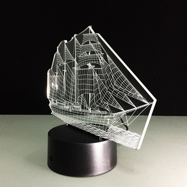 Usb 3d Led lampe de Table cadeau PVC 3D coloré veilleuse voile lampe Luminaria Mesa lampes Led pour Table