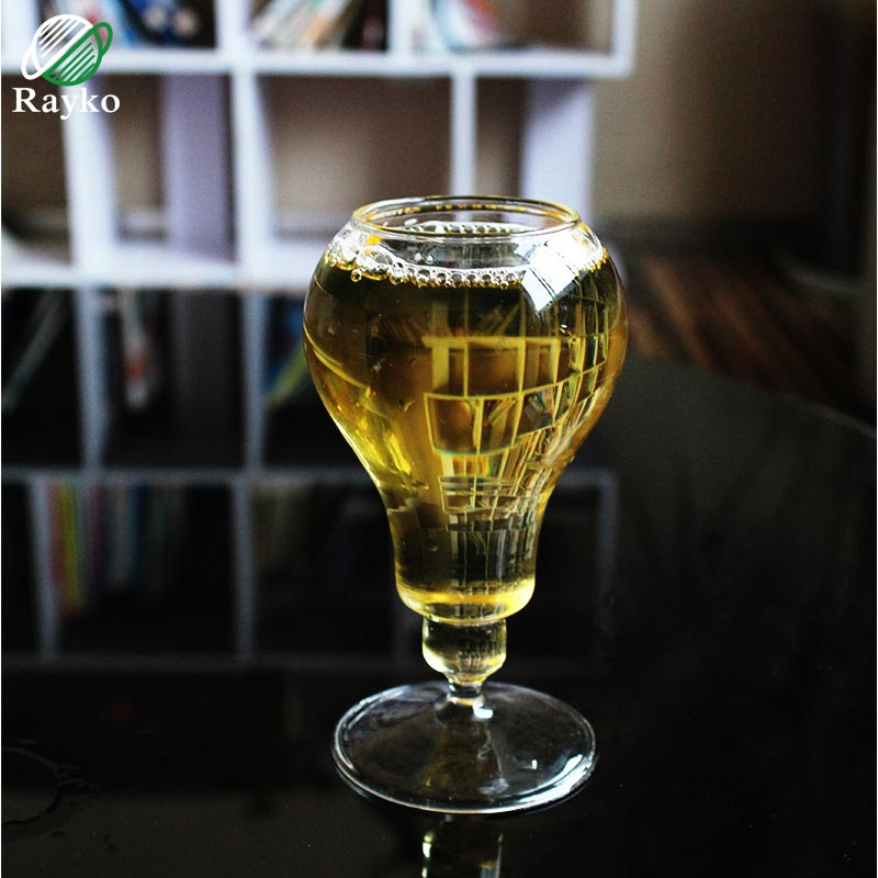 RAYKO Round Vintage Whisky Glass Goblet Cup Creative Party Wedding Glasses Cup Night Bar Juice Wine Glass GL43