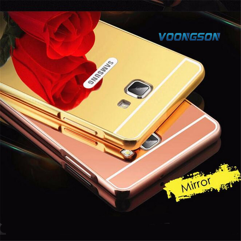 VOONGSON Luxury Rose Gold Mirror Case For Samsung Galaxy J7 prime Case Cover For Samsung Galaxy on7 2016 Shell Back Cover