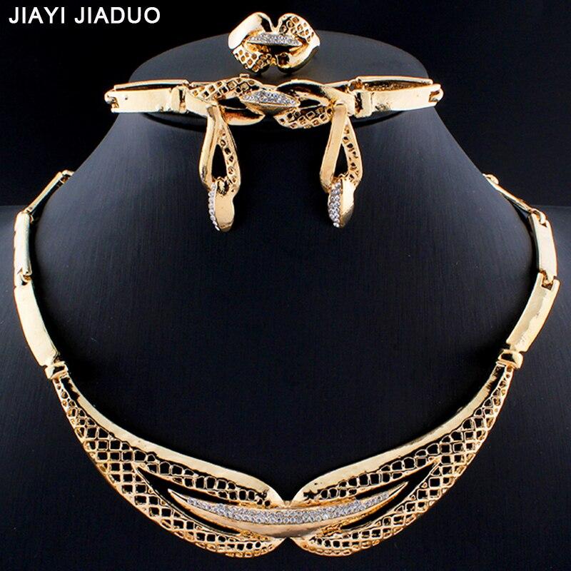 Liberal Jiayijiaduo Neue Mode Afrikanische Dubai Gold Farbe Schmuck-set Einfache Atmosphäre Der Weiblichen Kostüm Schmuck Sammlung Hochzeit Schmuck & Zubehör