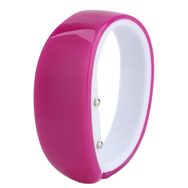 8 Candy Colors Digital Watch For Men Women Rubber LED Kids Watches Touch Screen