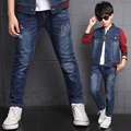 Fashion Patch mid jeans for little teenager boys kids jeans pants clothes new 2017 spring children denim pants trousers clothing