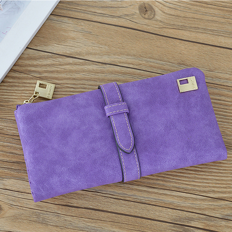 New Arrival Dull Polish Wallet  Lady Multifunctional  Purse Long Style Students Closure Huge Capacity Fashion Handbag Money Chan new arrival button wallet lady multifunctional purse long style zipper hasp oil wax cowhide closure huge capacity fashion han