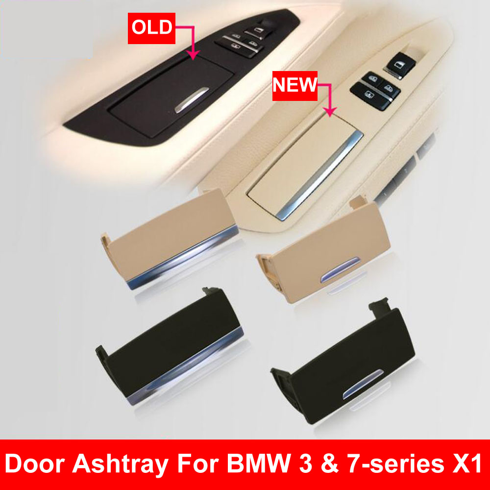 Black Beige Car Interior Door Ashtray Assembly Box Left Right Rear Fits For BMW F01 F02 730 735 740 745 <font><b>750</b></font> 760 <font><b>3</b></font> <font><b>7</b></font> series X1 image